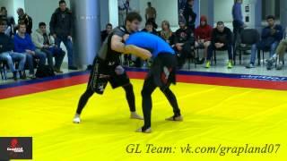 Standing Guillotine Choke. Али Багов 4-ая схватка. 77 кг. Грепплинг. Турнир им Полбина 2014