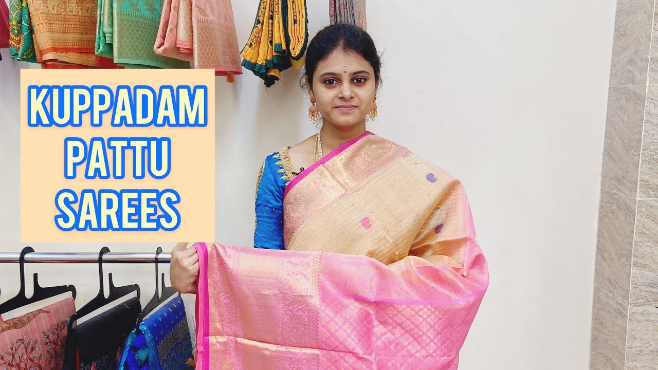 "<p style=""color: red"">Video : </p>Pure Kuppadam Pattu Sarees Available In Haritha SareesKuppadam pattu sarees are made with 75% pure pattu and 25% of pure cotton mix. Kuppadam pattu sarees usually very lite in weight and elegant in looks thats ... 2021-01-18"
