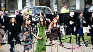 [FANCAM][120220] 2012 F/W Burberry Prorsum Fashion Show SNSD Arriving