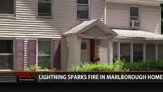 Lightning Strikes, Sparks Fire in Marlborough Home