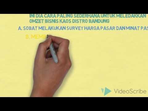 Video Cara Bisnis Kaos Distro Bandung