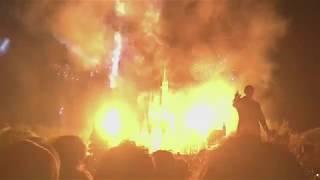 【プレビュー初日初回】新ナイトタイムスペクタキュラー「Celebrate! Tokyo Disneyland」パートナーズ像から