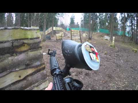 Пейнтбол для новичков с GoPro / Play paintball with newcomers with GoPro