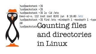 Counting Files and Directories in Linux