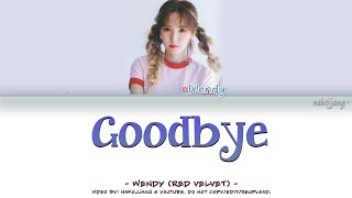 [OFFICIAL] WENDY (웬디) – GOODBYE (BEAUTY INSIDE OST) (Color Coded Lyrics EngRomHan가사)
