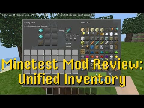 Minetest Mod Review: Unified Inventory