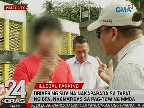 24 Oras: Driver ng SUV na nakaparada sa tapat ng DFA, nagmatigas sa pag-tow ng MMDA
