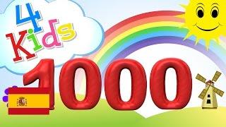 Gambar cover Aprender contar los números de 100 a 1000, 100 pasos - para niños y bebés (español)