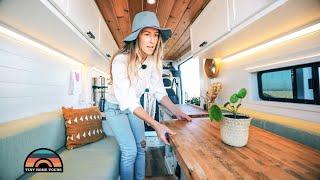 Living In A DIY Camper Van Over Paying California Apartment Rent - Gorgeous Custom Design