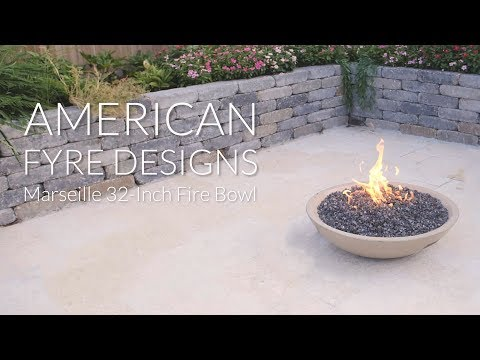 American Fyre Designs Marseille 32-Inch Fire Bowl - Cafe Blanco