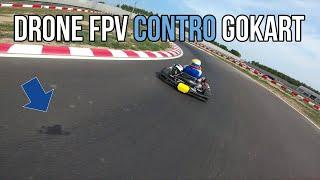 DRONE da FPV RACING insegue GOKART in PISTA