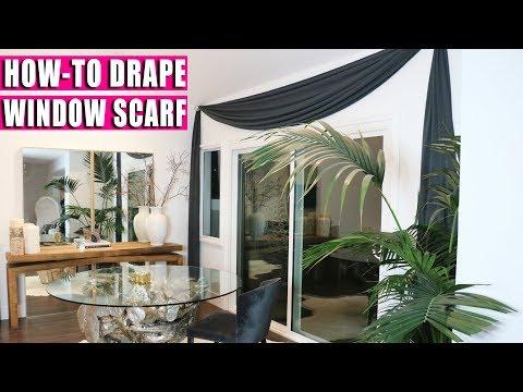 HOW TO DRAPE WINDOW SCARF