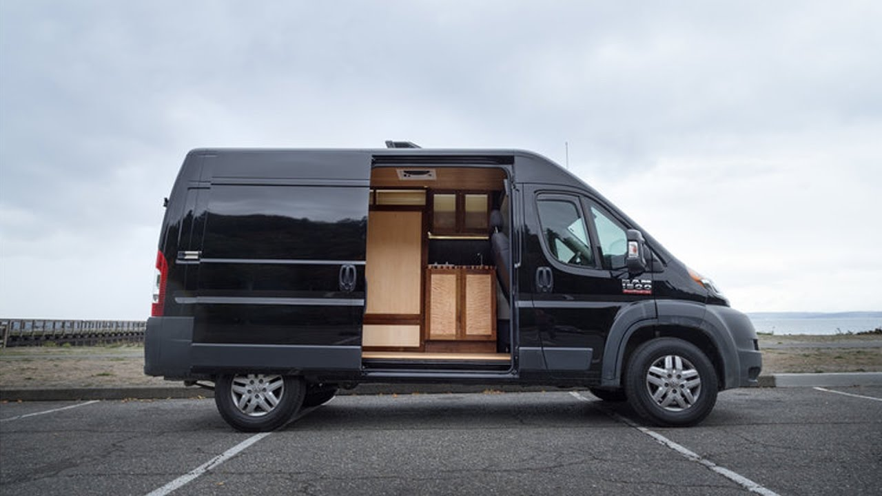 Hybrid Live/Work Van Conversion by Pro Woodworker