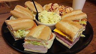 Double Meat Beast Sub Sandwich Challenge in St Augustine!!