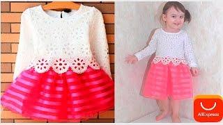 Платье для девочки  aliexpress . Распаковываем платье!