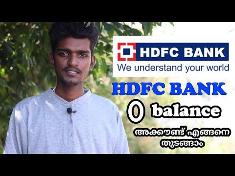 , title : 'HDFC Bank 0 balance account opening malayalam