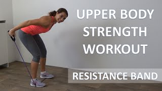 Resistance Band Workout – 10 Minute Upper Body Strength Workout For Arms, Shoulders and Back by FitnessType