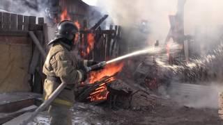 Пожарный спас ребёнка из огня