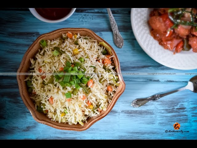 How to make restaurant style vegetable fried rice yummyntasty recipe details ccuart Image collections