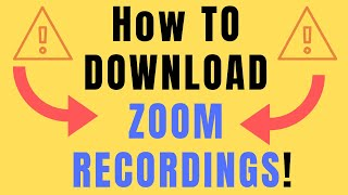 how to download zoom recording (zoom download)