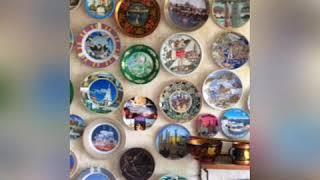 #Тарелки на стене. #Коллекция моей мамы.