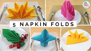 FIVE Napkin Folding Tutorials & Folding Napkin Techniques - As Seen On The Rachael Ray Show!