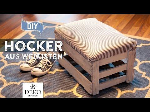DIY: hübsche Hocker aus Weinkisten selbermachen [How to] Deko Kitchen