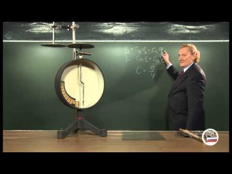 Геометрия конденсатора и его ёмкость - демонстрация в инженерно физическим институте