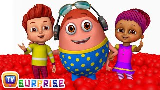 Kids play in HUGE Gumball Machine, Ball Pit and Surprise Eggs to Learn Color Red | ChuChu TV Funzone