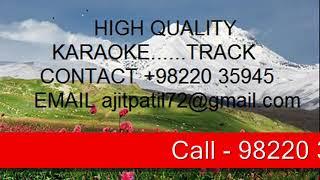 Aadhi Ye Raat Jale - Karaoke Sample - YouTube