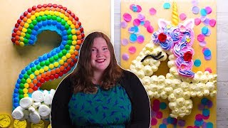 How to Make Number Cakes with Katie! | DIY Dessert Recipes and Decorations by So Yummy