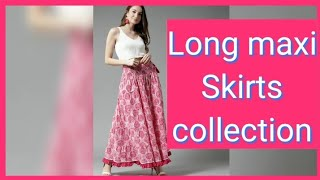 Myntra Long Maxi Skirts Collection/long Maxi Skirts Designs