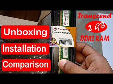 Best Transcend 2GB DDR2 RAM | Unboxing | Installation| Comparison