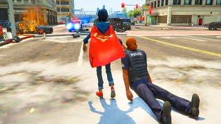 GTA V -Superboy Destroys Los Santos ( Gta 5 Mods)