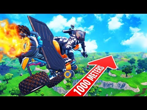 7193m Jump Across Map World Record With Quad Crasher In Fortnite