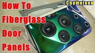 How To Fiberglass Door Panels Step By Step Chameleon Flip Flop Paint PRV AUDIO SPEAKERS Chevy Tahoe