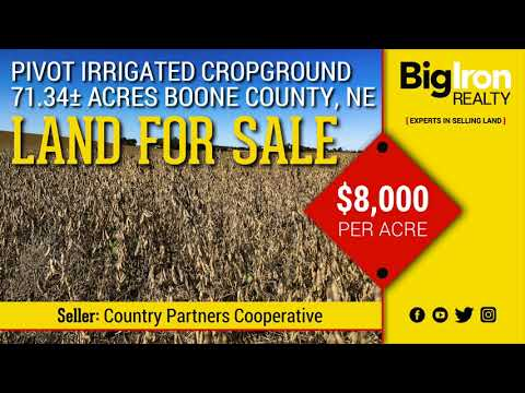 71.34+/- Acres Boone County, Nebraska