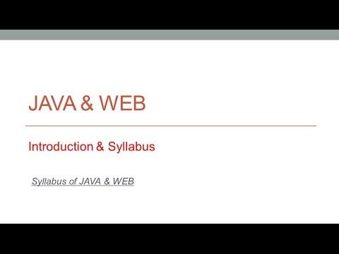 JAVA & WEB