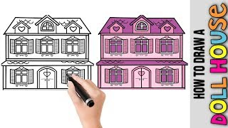 Dollhouse Drawing Step By Step म फ त ऑनल इन