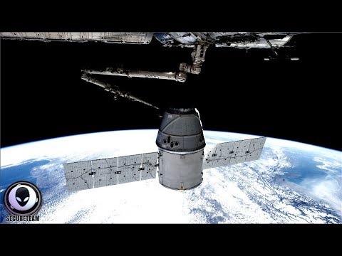 SOMETHING Caught Lurking Behind Space Station 8/20/17