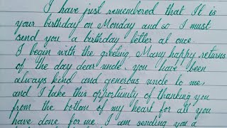 Write a letter to your uncle on his bithday