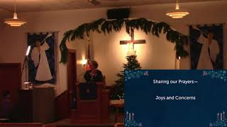 Worship in Church – 12/20/2020