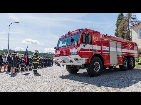 Předání nového zásahového vozidla Tatra Force SDH Kamýk nad Vltavou