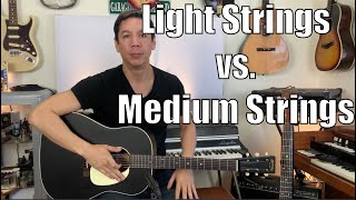 Light Strings VS. Medium Strings DO THEY SOUND DIFFERENT?