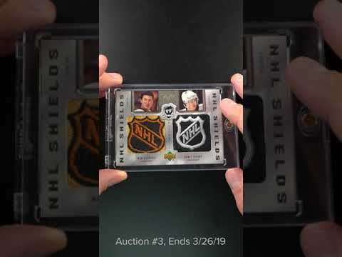 2005 06 The Cup Dual Mario Lemieux Sidney Crosby Rc Nhl Shield Patch