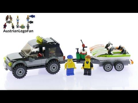 Vidéo LEGO City 60058 : Le 4x4 de transport des scooters des mers