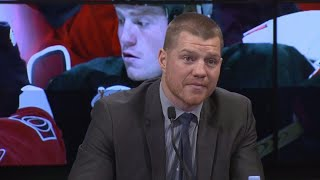 Chris Neil emotional thanking family & friends as he retires from hockey