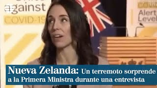 Un terremoto sorprende a Jacinda Ardern en medio de una entrevista en televisión