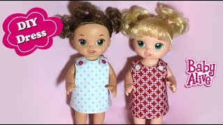 How To Make Baby Alive Reversible Doll Dress Free Pattern DIY
