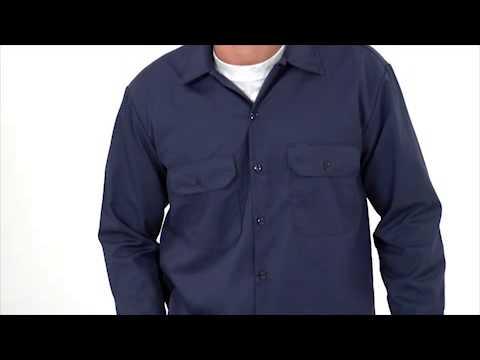 La Camisa de Trabajo de Manga Larga por Dickies